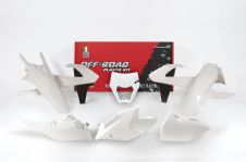PLASTIC KIT 6 17-18 EXC/EXF-F WHITE ENDURO KIT